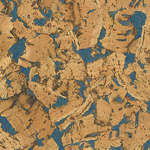 Country Blue cork wall tile