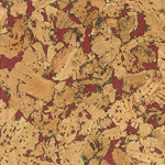 Country Red cork wall tile