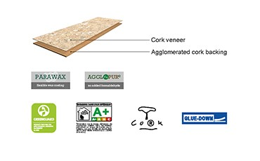 Natural Cork Floor tiles specification
